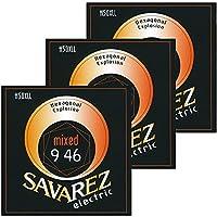 サバレス エレキギター弦 SAVAREZ HEXAGONAL EXPLOSION LINE ELECTRIC GUITAR STRINGS (H50XLL, 3セット)
