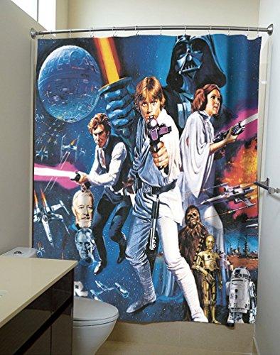 Star Wars: A New Hope Film Poster Dusche Gardinen