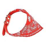 Zunea Collar para perro o gato pequeño triángulo estilo bandana pañuelo pañuelo pañuelo pañuelo ajustable impresión cachorro bufanda collar rojo