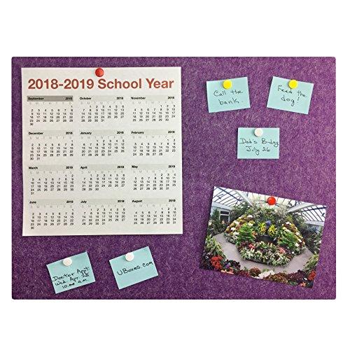 Bulletin Board Wall/Notice/Message 35.4' x 23.6' Purple
