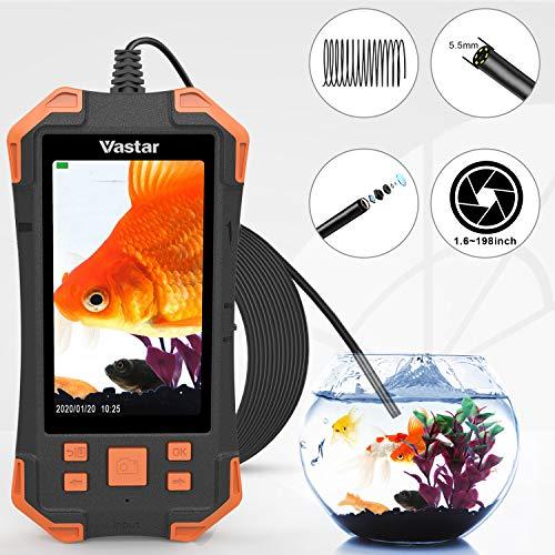 Vastar Digital-Inspektionskamera, 4,3 Zoll, 1080P IPS-Farb-LCD-Monitor, Industrie-Endoskop, Bildschirm-Rotation, 5,5 mm verstellbares Licht, Hand-Endoskop, IP67, 5 m