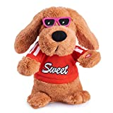 Musical Dancing Singing Electronic Dog Plush Stuffed Animal Interactive Puppy Pet Toy Animated Pet , Rock Body, Singing 6 Songs Plush Dog Toys for Boys Kids Toddlers Baby Toy