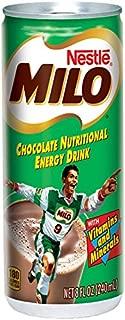Milo Nutritional Energy Drink, Chocolate, 8 Fluid Ounce (Pack of 24)