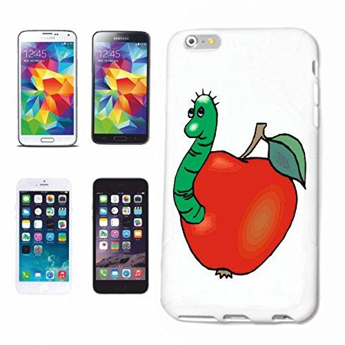 Reifen-Markt Cov - Carcasa para iPhone 6S, diseño de gusano en manzana, dibujos animados, divertido, película de culto, serie E, carcasa rígida