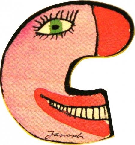 Mihatsch&Diewald ImseVimse Janosch Buchstaben Holzbuchstaben C ca. 6cm