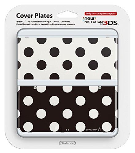 New Nintendo 3DS Zierblende 015 (Punkte Schwarz/Weiss)