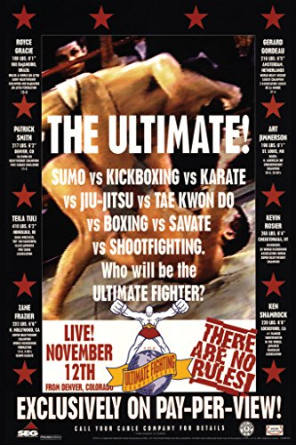 Pyramid America Official UFC 1 First Event 1993 Sports Cool Wall Decor Art Print Poster 12x18