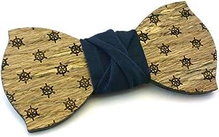 Papillon legno GIGETTO Timoni Nodo Blu Notte Made in Italy