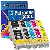 Tito-Express PlatinumSerie 5 Patronen XXL kompatibel mit Epson T2621 T2631 T2632 T2633 T2634 26XL | Für Epson Expression Premium XP 510 520 600 605 610 615 620 625 700 710 720 800 810 820
