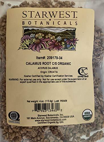 Starwest Botanicals Calamus Root Cut/Sifted Organic 4 oz