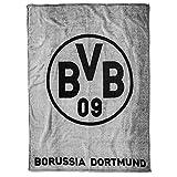 Borussia Dortmund, BVB-Fleecedecke (grau), Grau / Schwarz, 0