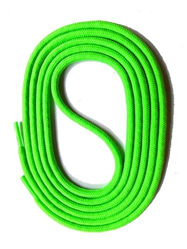 SNORS Schnürsenkel NEON GRÜN RUND 3mm, 150cm reißfest, Made in Germany Rundsenkel aus Polyester für Sportschuhe Sneaker Turnschuhe Laufschuhe und Stiefel