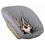 Ukje - Funda Para Tronas de Bebe Stokke Newborn 1 Pieza Funda Silla OEKO TEX® Standard 100 Funda Cojin Algodón Práctico Fácil de Limpiar Gris