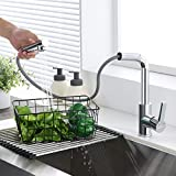 Auralum Rubinetto da cucina estraibile ad alta pressione con doccetta girevole a 360° miscelatore monocomando