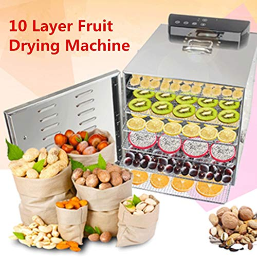 Review Of SISHUINIANHUA 10 Layers Stainless Steel Food Dehydrator Fruits Vegetable Herb Drying Machi...
