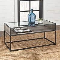 Walker Edison Furniture CompanyRectangle Open Shelf Coffee Table