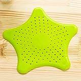 Creativa de Cinco Puntas de desagüe del fregadero de la estrella anti obstrucción piso alcantarilla Filtro Estrella de mar piso de la estrella de silicona de drenaje verde