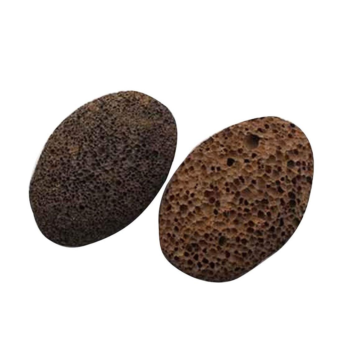 ピット否認するとにかくNerhaily 死んだ皮軽石を取り除き 足石を挽いて 自然の火山石を剥がします 足マッサージ石 ワイプ足石 2個セット