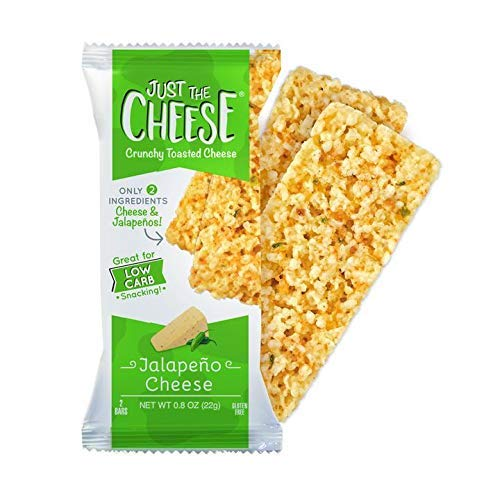 Just the Cheese Bars, Crunchy Baked Low Carb Snack Bars. 100% Natural Cheese. High Protein and Gluten Free … (Jalapeno)