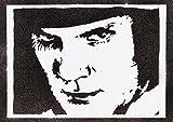 Poster Orange Mécanique Affiche Alex A Clockwork Orange Handmade Graffiti Street Art -...