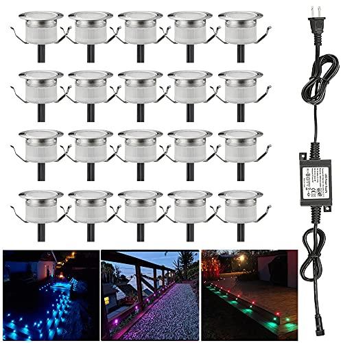 LED Deck Lights Kit, 20pcs Φ1.22