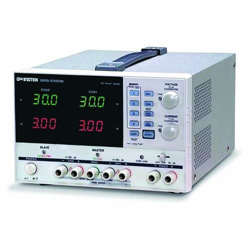 Instek GPD-3303D 195W Triple-Output Programmable Linear DC Power Supply 30V DC, 3 Amp, 100mV, 10-milliamp Resolution