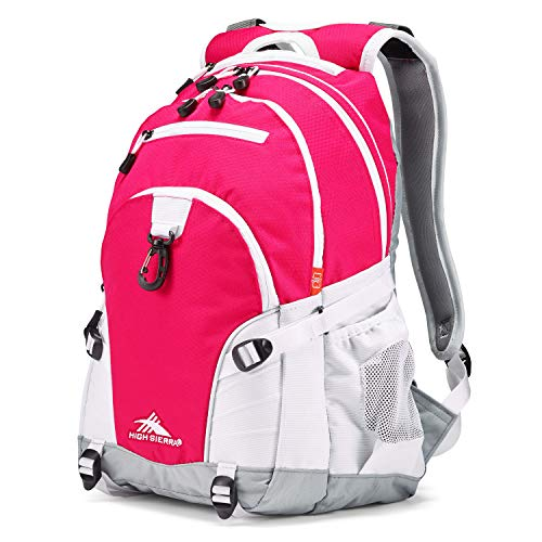 High Sierra Loop Backpack, Pink Punch/White/Ash