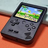 Handheld Games Console for Kids 4-8, Retro FC Arcade Video Gaming System Built-in 400 Classic Old School Games 3.0' LCD USB Charge and TV-Output, Birthday Gifts for Boys Girls Adults-Black (RED)