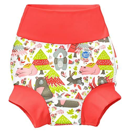 Splash About Unisex-Baby Neue Und Verbesserte Happy Nappy Windel Schwimmen Kinder New Improved, Into The Woods, 3-6 Monate