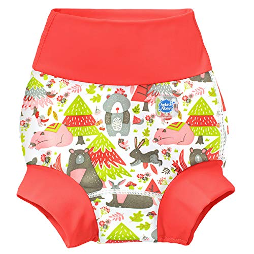 Splash About Unisex-Baby Neue Und Verbesserte Happy Nappy Windel Schwimmen Kinder New Improved, Into The Woods, 2-3 Jahre
