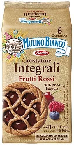 Mulino Bianco Crostatine Integrale con Confettura ai Frutti Rossi, per una Colazione e Snack Dolce per Merenda, 6 Crostatine