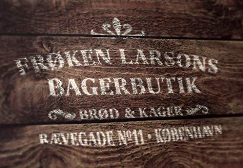 Schablone Bäckerei Kopenhagen - skandinavische hygge Deko