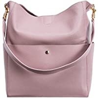 Gionar Rfid Genuine Leather Handbags (Pink)