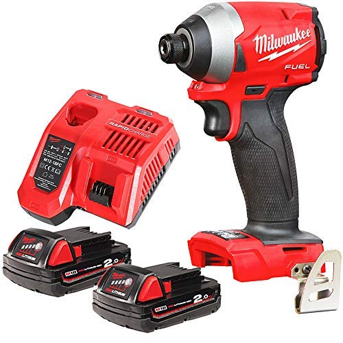 Milwaukee M18FID2 18v M18 Fuel Impact Driver with 2 x 2Ah Batteries & Charger