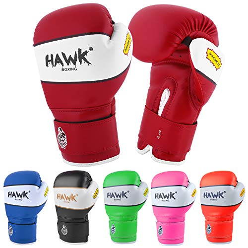 Kids Boxing Gloves for Kids Children Youth Punching Bag Kickboxing Muay Thai Mitts MMA Training Sparring Gloves (Red, 4 oz)