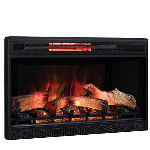 "Classic Flame 3D Infrared Quartz Electric Fireplace Insert Plug and Safer Sensor, 32"","
