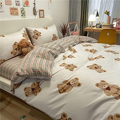 BOLO Sábana bajera de franela de algodón cepillado o fundas de almohada, termal de lujo suave y acogedor, colchas opcionales multicolor, 150 x 200 + 25 cm