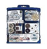 Dremel SC725 EZ SpeedClic Set di Accessori per Utensile Multifunzione, 70 Pezzi per Intagliare, Tagliare, Incidere, Lucidare, Fresare, Levigare, Smerigliare e Pulire, 0 V