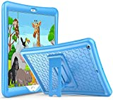 ABOUTTHEFIT Kids Case for iPad 10.2 8th Gen 2020 / 7th Gen 2019, Shockproof Soft Silicone Case, with Kickstand for 10.2 Inch iPad 8 / iPad 7 -Blue