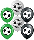 Vision Licensed Soccer 12' Party Balloons 30 Pcs, 2 Sides Printing Unique Design Premium Large Soccer Latex Balloons. Great For Soccer Sports Games Kids Theme Birthday Party Decorations