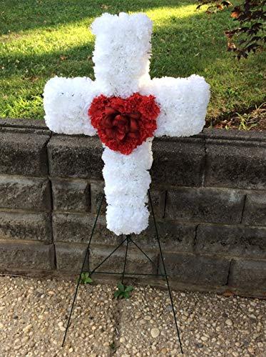 Floral Cross, Cemetery Flowers