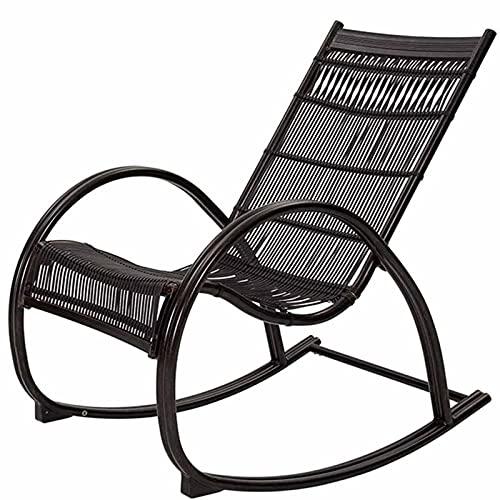 VERDELZ Jardín al Aire Libre Relax Mecedora Silla de salón para Todo Clima Sillón con Respaldo Alto Tumbonas Plegables Balcón Patios Traseros Asiento Mecedora