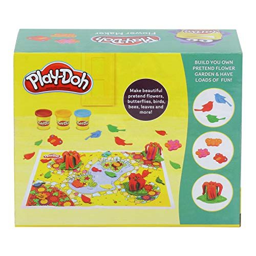 PLAY-DOH Flower Maker Toy for Kids 3 Years and Up with 3 Non-Toxic Colors