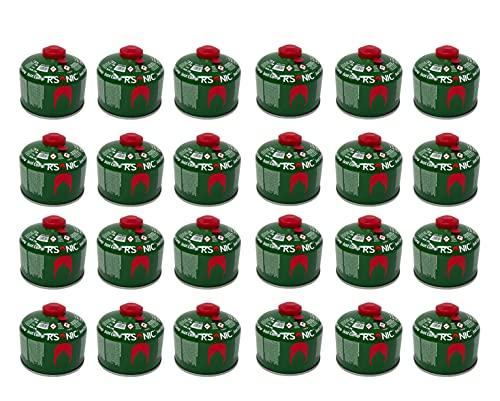 RSonic Cartucho de válvula de rosca, gas butano y propano/válvula de gas para hornillo de camping, cartucho de gas con válvula de rosca 100-230-450 g (24, 230 g)