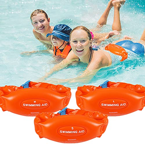(3 Pack) Swim Belt for Kids Adults, Buoyancy Belt, Swimming Aid Flotation Belt, Swim Trainer Belt, Inflatable Swim Belt with Safety Buckle, Suitable for Swimming Learning Beginners(L+M+S)