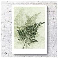 レトロなスタイルのカラフルな葉の標本のポスターとプリント壁アートキャンバス絵画リビングルームの装飾のための家の装飾的な写真30x40cmフレームレス