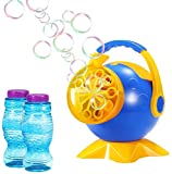 Theefun Bubble Machine, Automatic Bubble Blower with Over 800 Bubbles Per Minute & 2 Bottles of Bubbles Solution Refill, Durable Bubble Machine for Kids Toddlers Boys Girls Baby Bath Indoor Outdoor