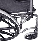 Mobiclinic, Modell Giralda, Rollstuhl für Ältere und Behinderte, Faltrollstuhl, Klapparmlehnen, selbstfahrend, Leichtgewicht, Schwarz, Sitzbreite 43 cm - 5