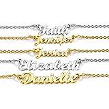 U7 Collar Nombres Personalizables para Mujeres Muchachas Material Acero Inoxidable Tono Plateado Colgantes Personalizables de Regalo cumpleaños