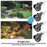 IR アナログ カメラ 3.6Mm レンズ 屋内および屋外用の 4-in-1 カメラ(PAL format)